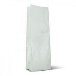 Пакет без печати с клапаном р-р 120*+70х400  белый матовый 1000гр.
